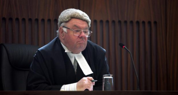 Irish judge in court